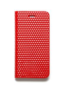 제누스 아이폰8 플러스 큐브 가죽케이스 레드