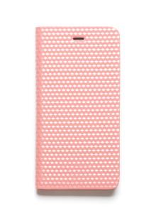 제누스 아이폰8 플러스 큐브 가죽케이스 핑크