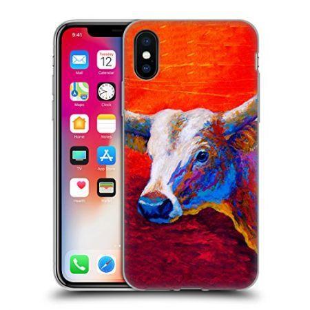 [해외]아이폰X 케이스 Official Marion Rose Sunset Ablaze Longhorn Cattle Soft Gel Case for Apple iPhone X : AlimNC - 네이버쇼핑