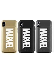 아이폰X 마블정품 야광 글로우 아이슬라이드 카드 범퍼케이스