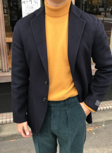 [heathen] 핸드메이드 싱글 자켓 (네이비)