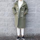 울 후드 더플 코트 (3color)