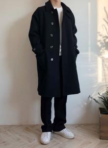 커플 히든 누빔 울 코트 2color