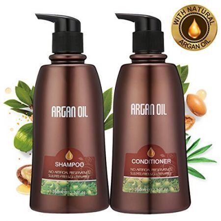 [해외] Skymore Moroccan Argan Oil Shampoo and Conditioner Set, Natural Hair Treatment for Dry Damaged : 보나베이 - 네이버쇼핑
