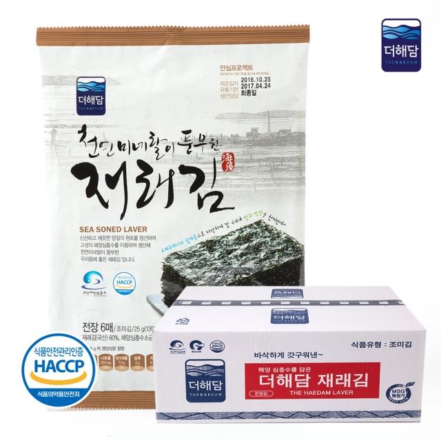 [더해담](HACCP인증) 조미재래김 25g(6매)X30봉 해양심층수특허제품