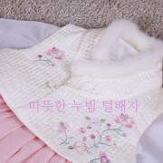 628.M 겨울의 따뜻함을 안겨주는 아동 여아털배자