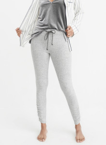 아베크롬비 레깅스 COZY CINCHED LEGGINGS LIGHT GREY