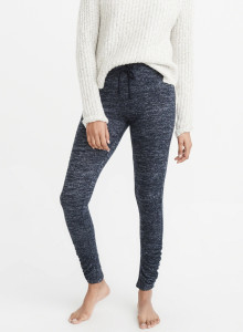 아베크롬비 레깅스 COZY CINCHED LEGGINGS NAVY