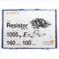 칩저항 키트 1005(0402) 사이즈 F급(1%) 160종 (100개입,200개입,300개입,500개입) /칩저항키트/저항키트/칩저항세트/저항세트/저항/칩저항/샘플키트