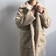 양털 뽀글이 롱 코트