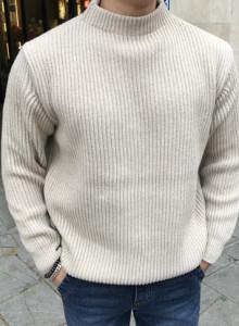 헤비 울 로우넥 스웨터 (4color)