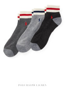 폴로 남자양말 3세트 Pony Low-Cut-Sock 3-Pack Charcoal