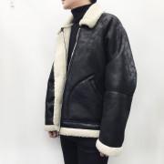 남자 겨울 양털 무스탕 자켓