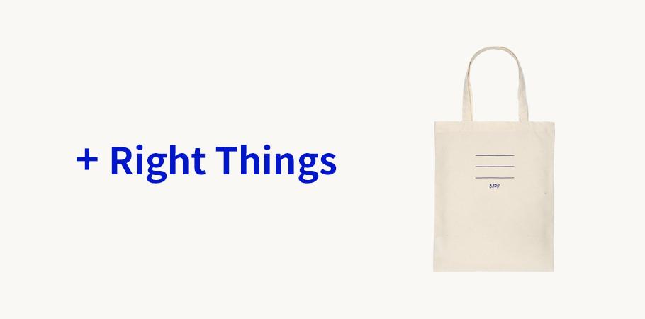 BOR(보르) Right Things #2-라이트 캔버스백
