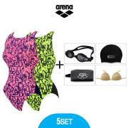 [아레나] AG 여성 원피스 용품4종 수영복세트 ATSPL10X30