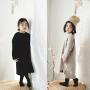 (겨울신상)본본 엄마랑딸 커플룩 트임롱원피스[연핑크, 검정] 딸(S~JL) 엄마(free)