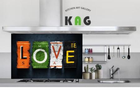 주방아트보드키친아트갤러리(디자인 ) love (Large 사이즈)