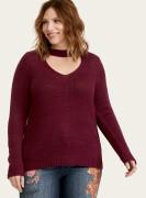 [미국] 플러스사이즈 여성 스웨터 토리드 TORRID Purple Cutout Choker Neck Sweater