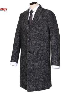 남자 싱글 롱코트 1191 슬림핏 겨울 울혼방 아우터