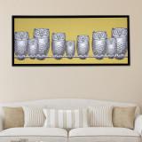 주방아트보드 키친아트갤러리(포르나세티액자)-부엉이가족 옐로우