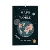 [라이플페이퍼]2018캘린더 (Rifle paper)2018 Maps Of The World Calendar