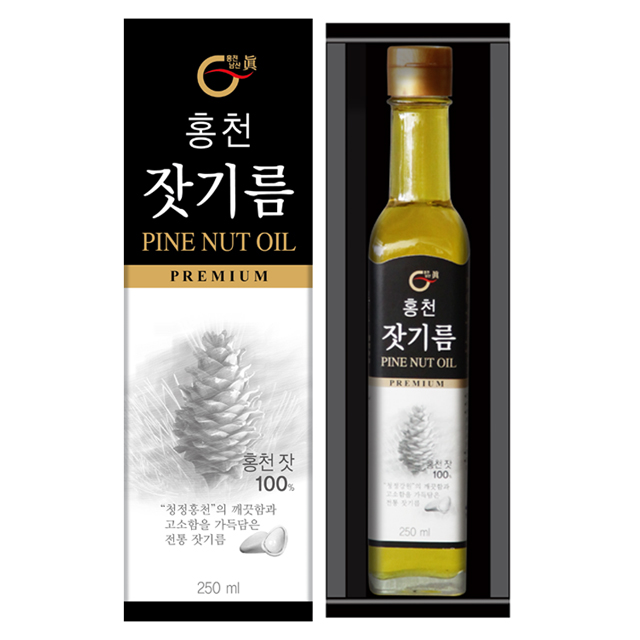 홍천 잣기름 250mL (국산)