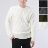 울 블렌드 어깨 버튼 포인트 크루넥 니트 스웨터/100-125/빅사이즈/니트/스웨터/블랙,아이보리,차콜,카키