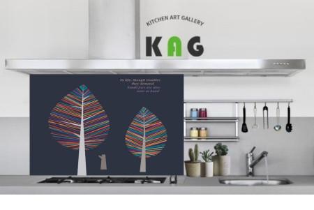 주방아트보드키친아트갤러리(디자인 ) 물방울라인트리-a (Large 사이즈)