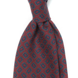 RECTANGLE PRINTED WOOL TWILL TIE 4TH