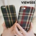 아이폰6/6s플러스 체크 스트랩 케이스 태슬 키링 커플 패브릭