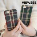 아이폰6/6s 체크 스트랩 케이스 태슬 키링 커플 패브릭