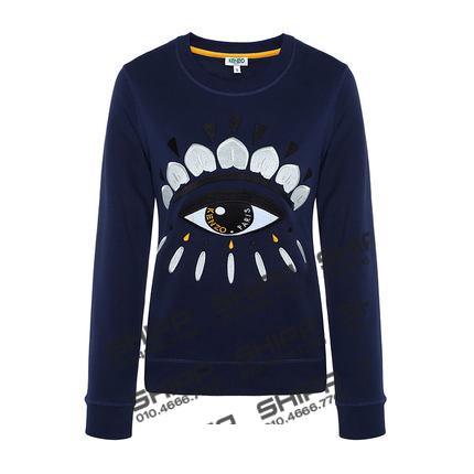 색감좋은 파란색 맨투맨 여자 티셔츠 5vr4l1o KENZO : Shipp