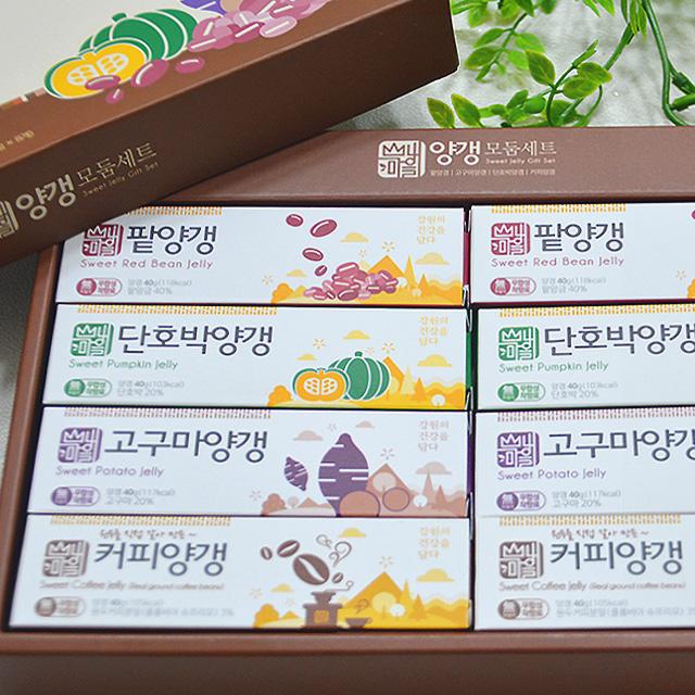 양갱모둠세트(팥,단호박,고구마,커피양갱 4종류 x  2개)