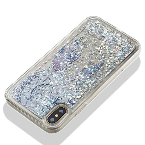Urberry Iphone X Case Clear Gel Liquid Case Sparkle Love Heart Creative Design Flowing Liquid Case : shoppingUSA - 네이버쇼핑