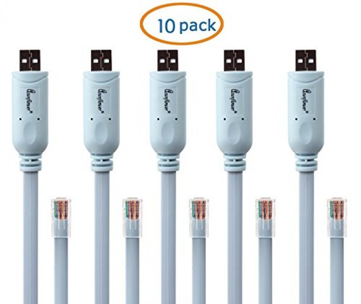 Asunflower 10 Pack 6Ft FTDI USB to RJ45 fit 추천 Cisco Console Cable Windows Vista MAC Linux RS232 : 뉴욕아웃렛 - 네이버쇼핑