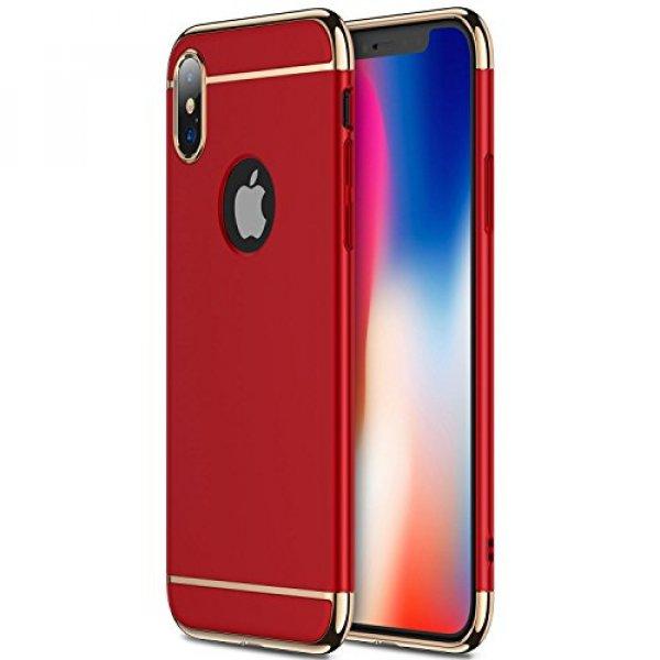 iPhone X Case Slim 3 in 1 Hard PC Matte Surface Non Slip Shockproof Anti-Scratches Full Body Protec : ESNOITE - 네이버쇼핑
