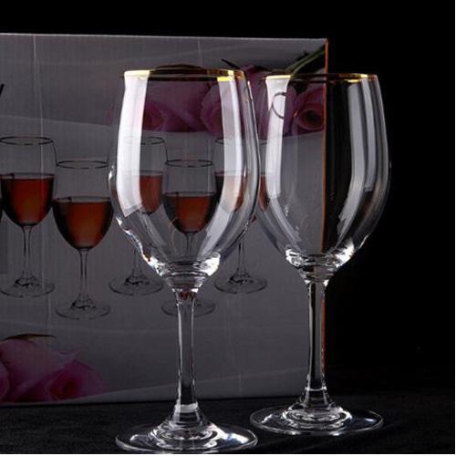 커플 골드 보르도 와인잔 1개 와인앤쿡 : 와인앤쿡