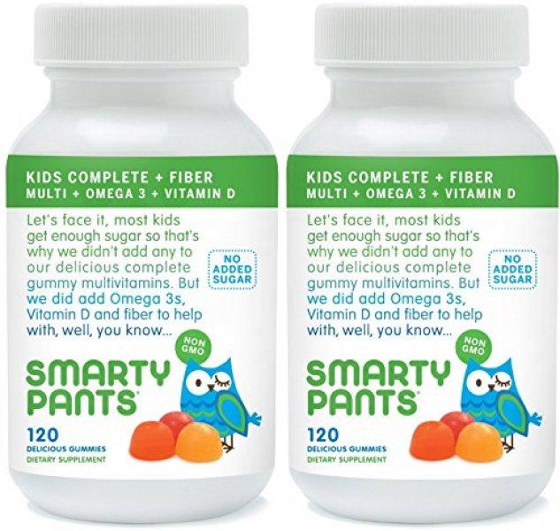 SmartyPants Kids Fiber Complete with No Sugar Added Multi plus Omega 3 plus Vitamin D 120 Gummies ( : 오케이닷컴 - 네이버쇼핑