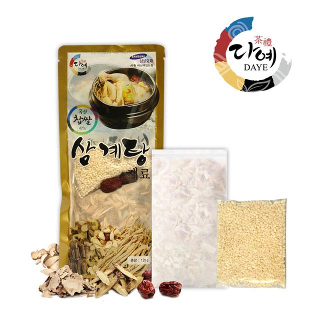 찹쌀 삼계탕 재료 120g(국산) : 다예