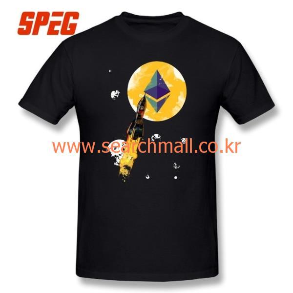 [티셔츠41]남자 업 달 ethereum 판 cryptocurrency 티 넘 사이즈 라운드 넥 현재 짧은 t 셔츠 면 : 대풍마켓 - 네이버쇼핑