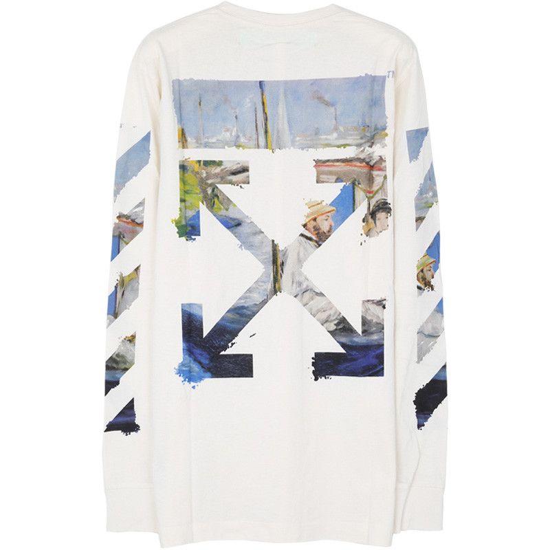 Off White 국내배송/오프화이트 19SS OMAB001R191850120288 티셔츠 : 패션쇼크