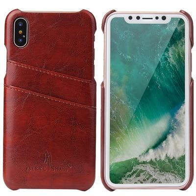 폰 Case 대 한 iPhone 8 7 6 초 Plus 6 초 X Retro Luxury 가죽 Cover Card Holder 지갑 백 커버 대 한 iPhone X 6 초 7 : 8249 - 네이버쇼핑