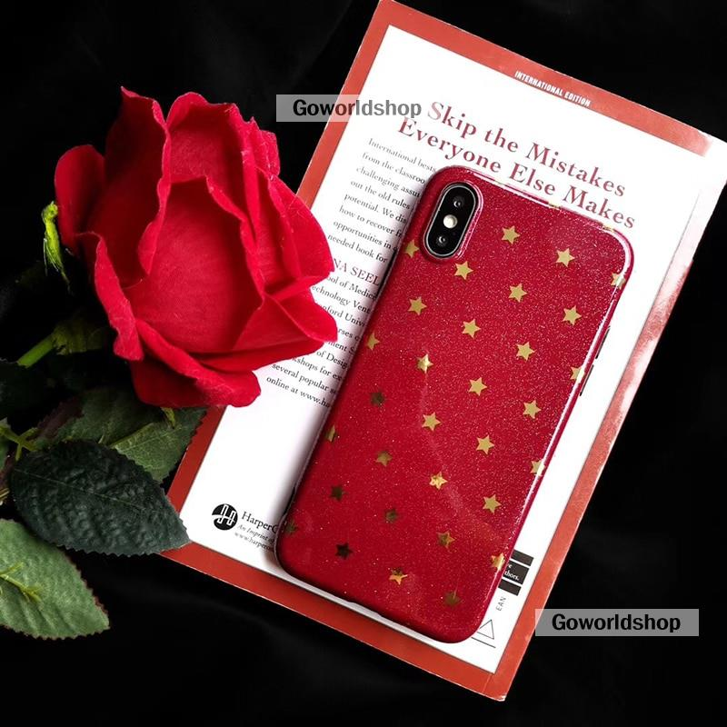 폰 case 대 한 iphone XSMAX X XR XS Wine red 핫 스탬핑 별 soft cover case 대 한 iphone 6 6 S 7 8 Plus 백 보호 fund : Goworld shop - 네이버쇼핑