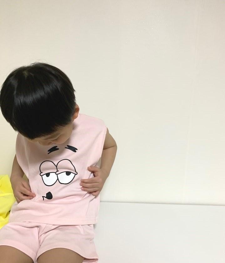 아동여름상하세트 밥친구 set : 크림별