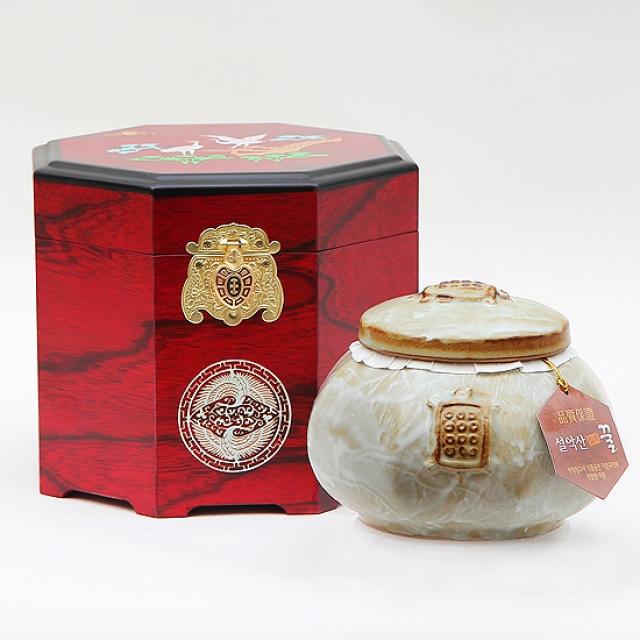 gw_[꽃꿀100%] 도자기꿀 2호 [아카시아꿀1.0kg] 장수거북 팔각고가구