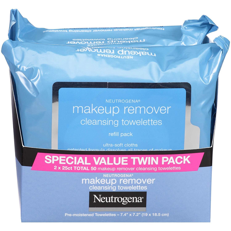 뉴트로지나 메이크업 리무빙 와이프 25장 x 2팩 Neutrogena Makeup Removing WIpes 25 count, Twin pack : 마마스잡화점 - 네이버쇼핑
