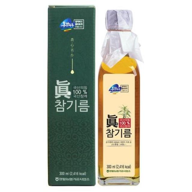 동강마루 진(眞) 참기름 300ml