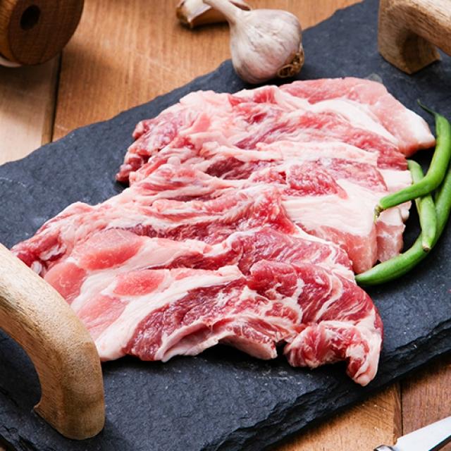 [명인한돈]생갈비살 구이용 500g, 국내산 1등급 돼지고기 치악산금돈