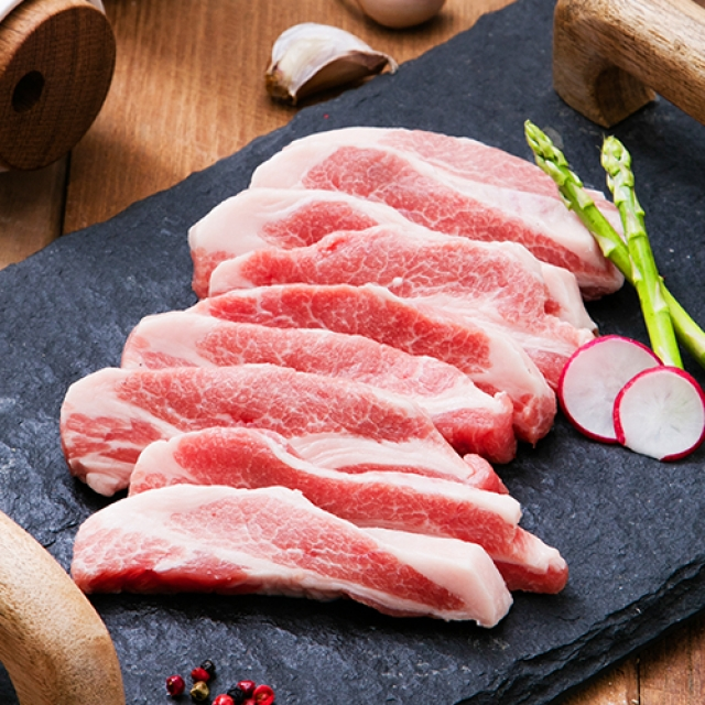 [명인한돈]등심덧살 구이용 300g, 국내산 1등급 돼지고기 치악산금돈