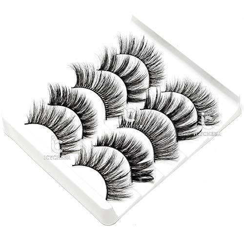 ICYCHEER Mixed 3D Mink Hair False Eyelashes Set Long Thick Wispy Messy Fake Eyelash Mink Lashes Soft : shoppingUSA - 네이버쇼핑